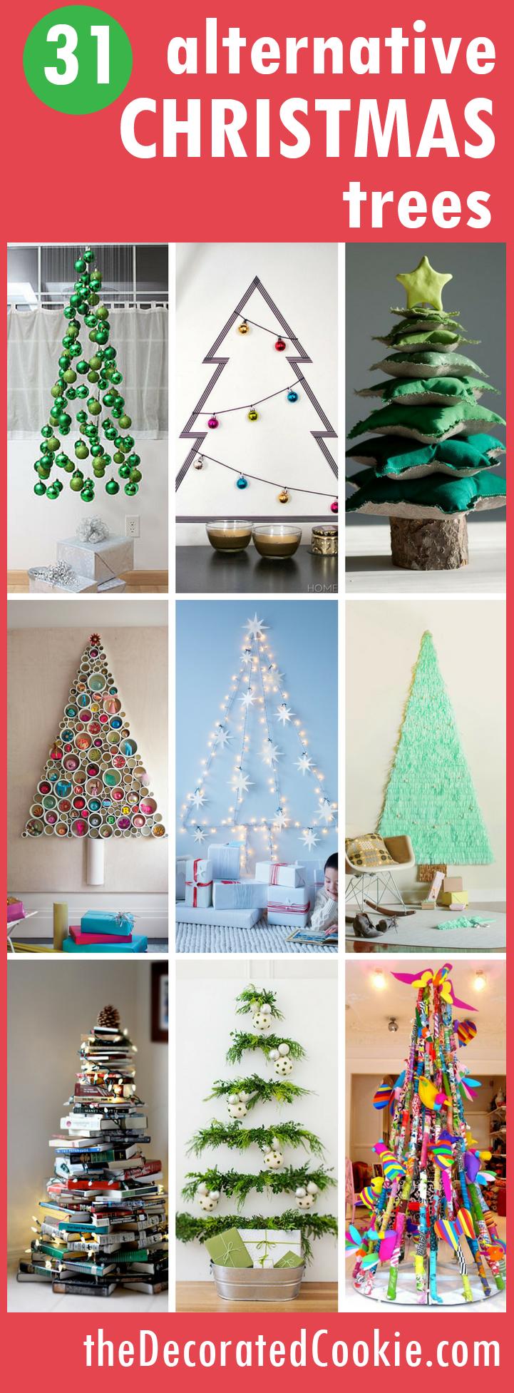 31 Alternative Christmas Trees Fun Christmas Home Decor Alternative Christmas Tree Alternative Christmas Christmas Diy