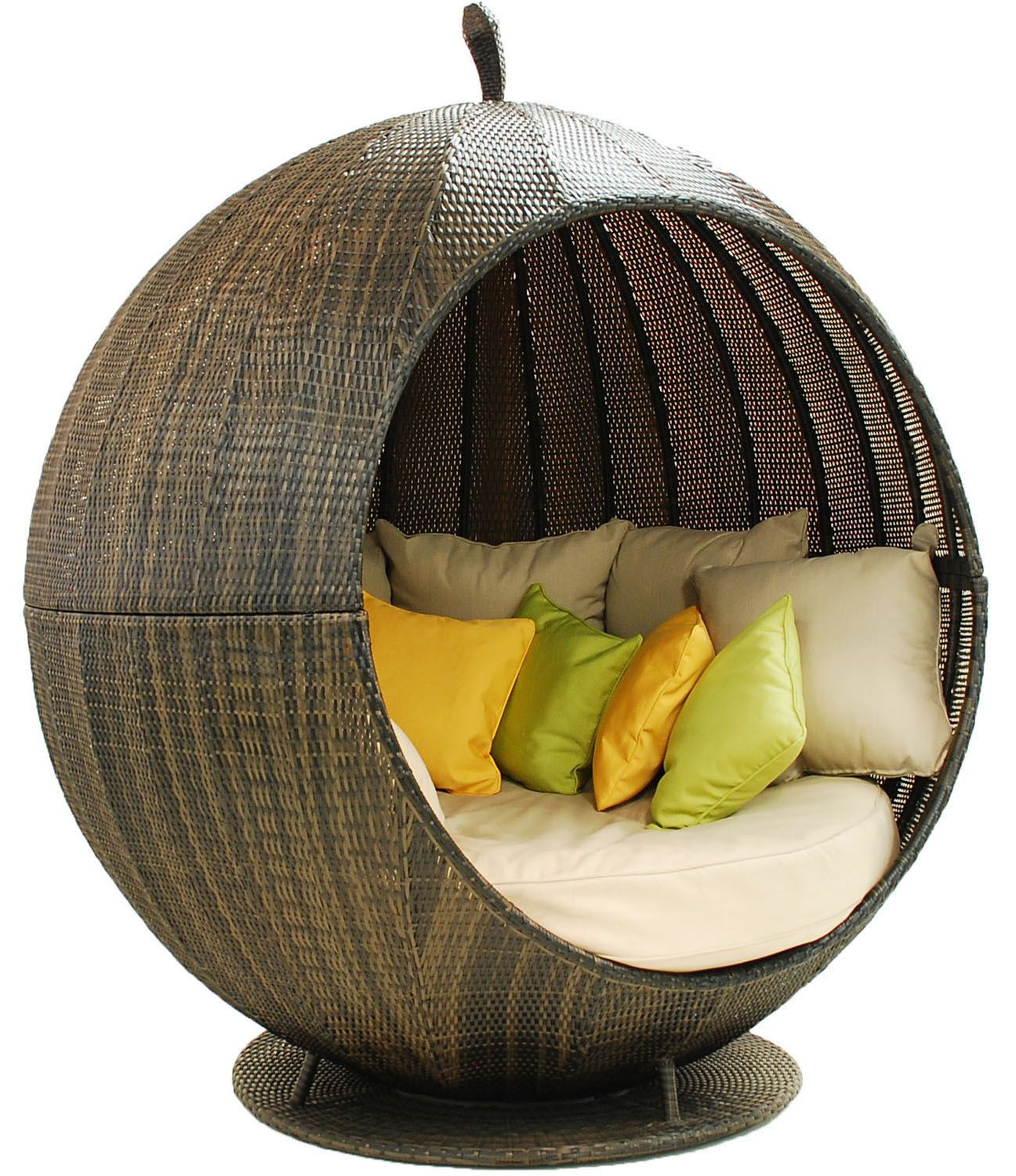 Rattan daybed pod. £899.99 http://www.worldstores.co.uk/p ...