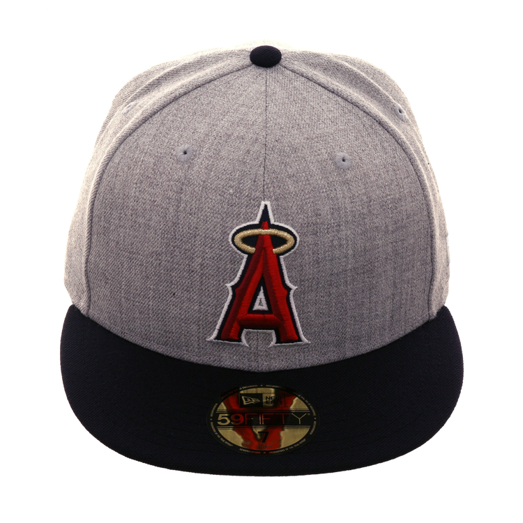 9ff17e71 Exclusive New Era 59Fifty Los Angeles Angels Hat - 2T Heather Gray, Navy, $  39.99
