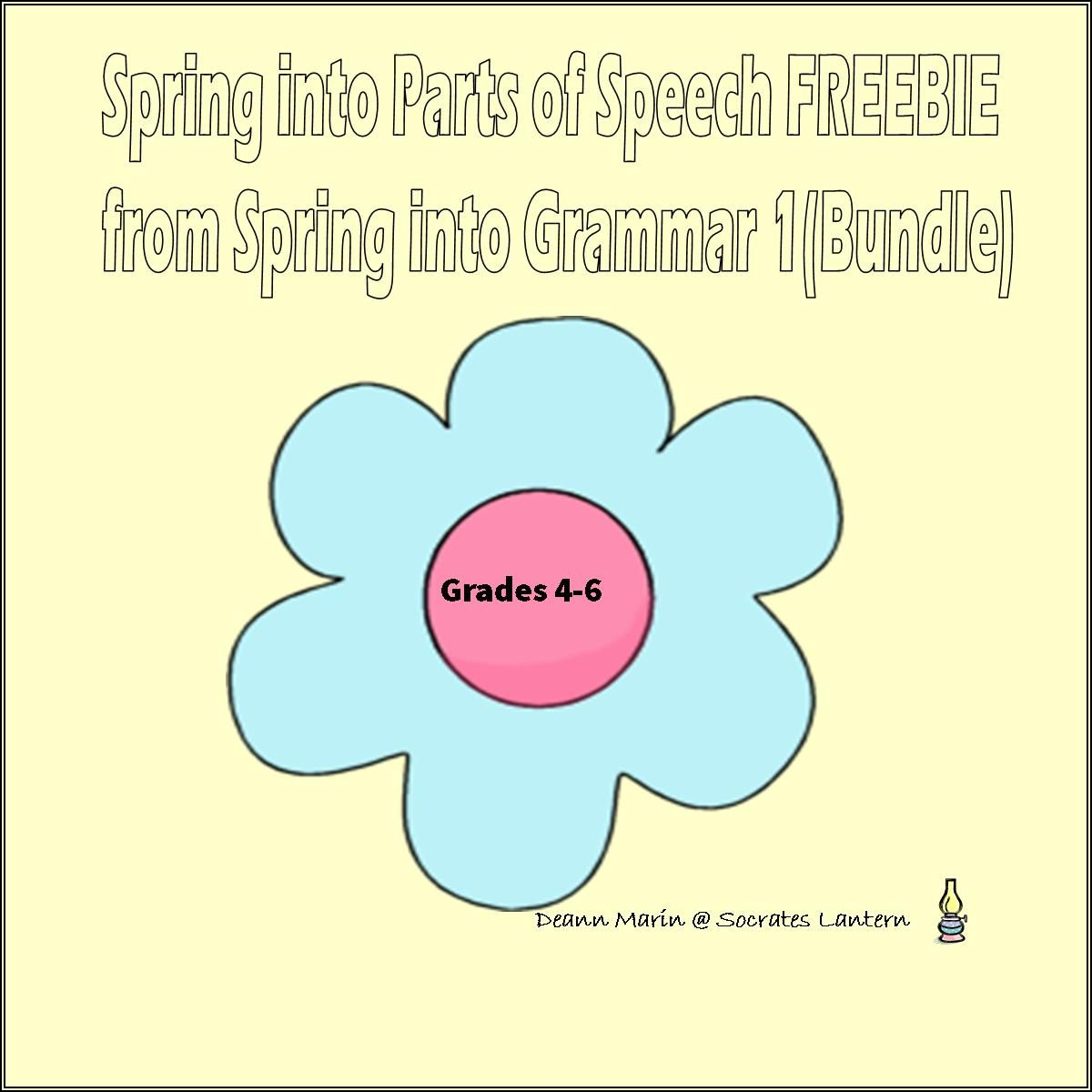 This Is A Spring Worksheet For Parts Of Speech