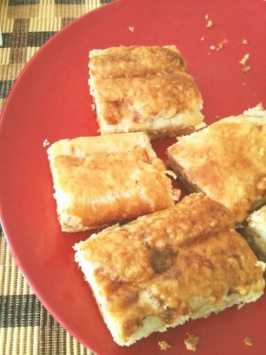 Countryside savoury cheese pie, a taste of childhood