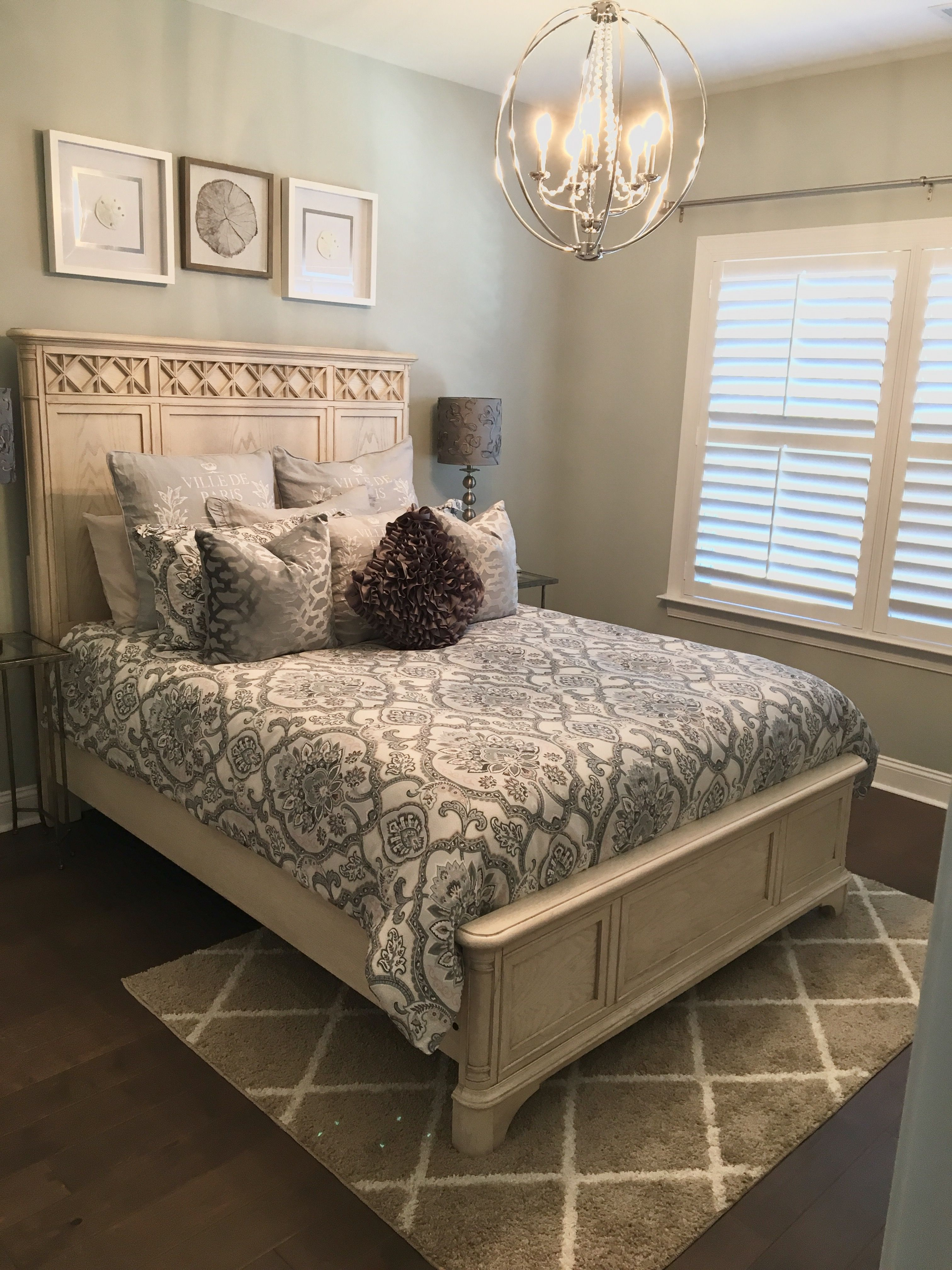 SW Comfort Gray - With Creams and Tans - Guest Bedroom Ideas Iris