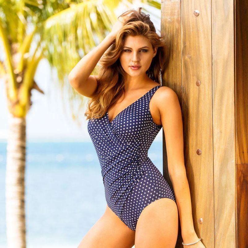 Miraclesuit Oceanus Marine Blue Swimsuit Size 20 Swimwear Blue