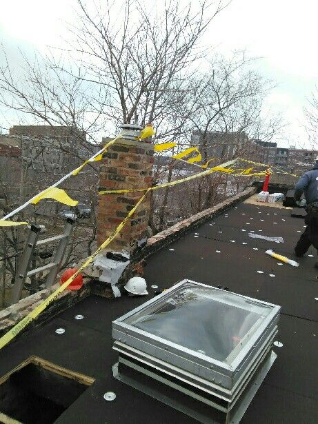 2 Flat Complete Roof Tear Off With A Gaf Modified System Installed Commercial Roofing Green Roof Hyde Park