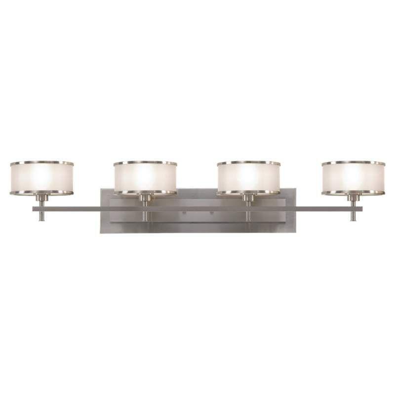 Murray Feiss VS13704 Casual Luxury 4 Light Bathroom Vanity Light Brushed  Steel Indoor Lighting Bathroom Fixtures