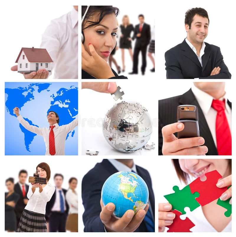 Business collage. Business concept images collage with lots of different images ,