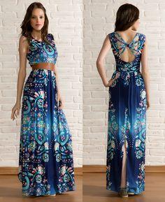 Vestidos longos moda casual