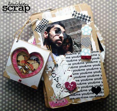 Mini álbum con cartón (San Valentín)