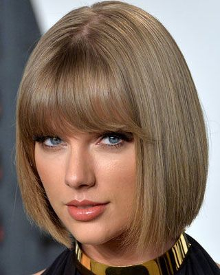 Taylor Swift With Short Chin Length Bob And Full Blunt