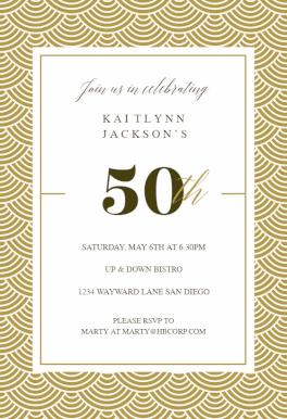 50th Golden Birthday Birthday Invitation Template Free Greetings Island Birthday Invitation Templates Free Birthday Invitations Printable Invitation Templates