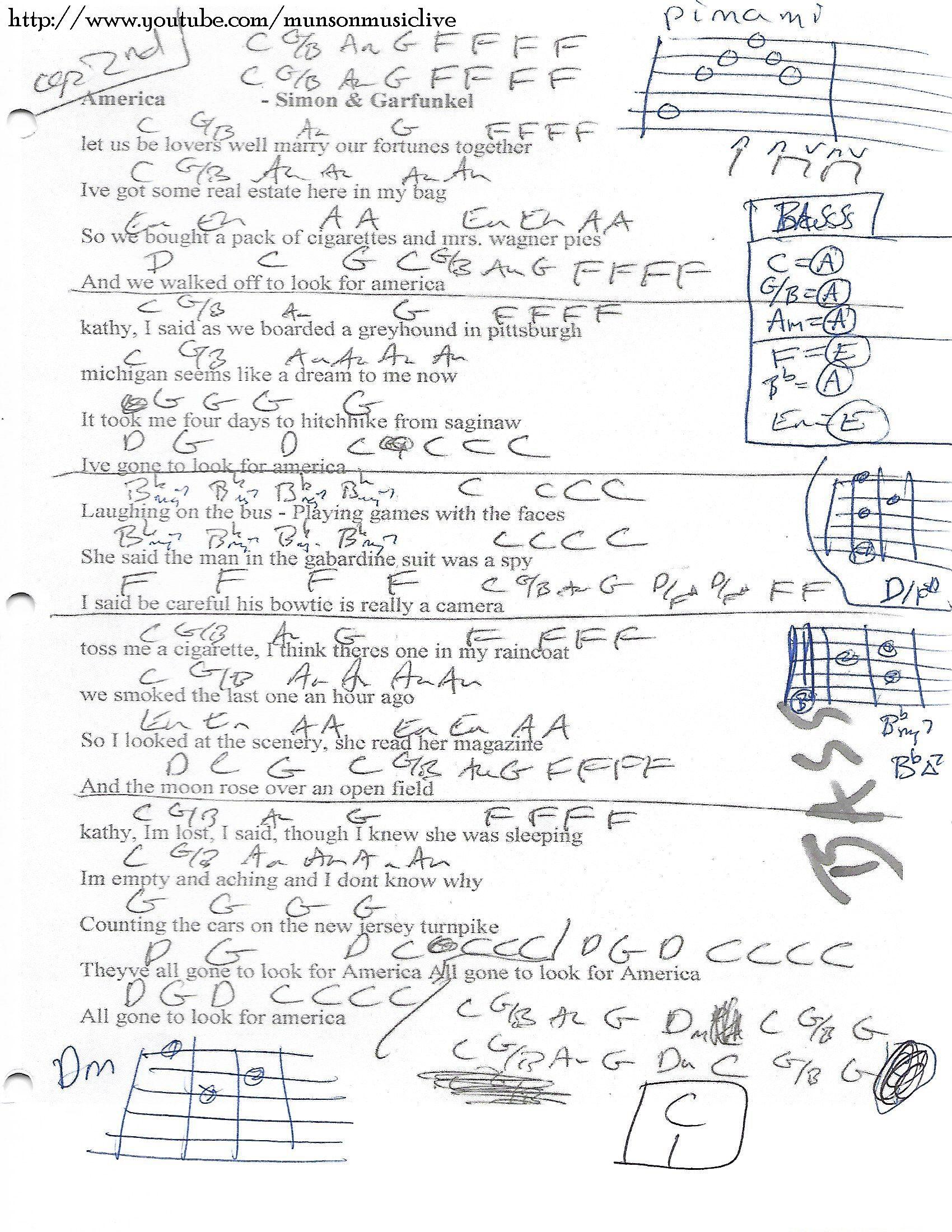 America simon and garfunkel guitar chord chart guitar lesson america simon and garfunkel guitar chord chart hexwebz Images