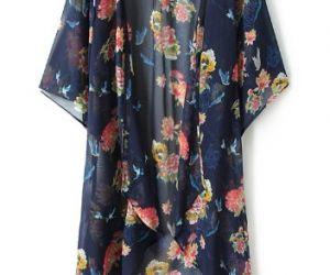 Blue Floral Crane Print Chiffon Kimono. Fashion : Tops : Blouses Blue Floral Crane Print Chiffon Kimono - See more at: http://spenditonthis.com/cat-13-fashion-newest.html#sthash.V1kLT7l9.dpuf