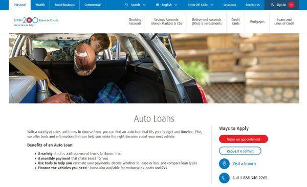 Bmo Harris Auto Loan  Financial Tips