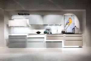 High gloss lacquer metallic Kitchen, Ocean Blue