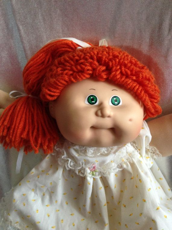 Vintage Cabbage Patch Kid Red Green Eyes Girl Ok Hm8 Cabbage Patch Dolls Cabbage Patch Kids Dolls Cabbage Patch Kids