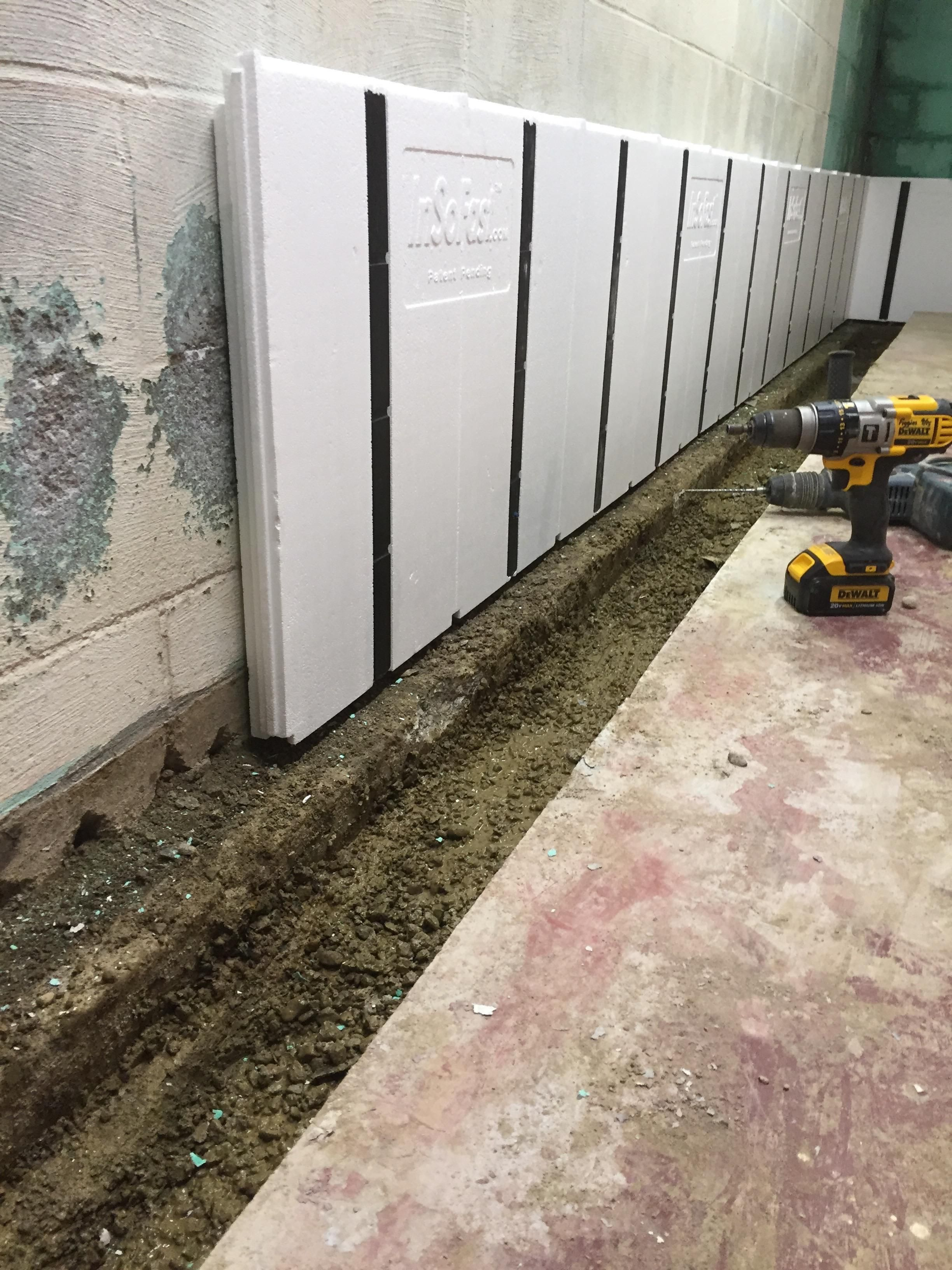 Can I Integrate Insofast Panels Into A Perimeter Drainage System In My Basement Absolutely