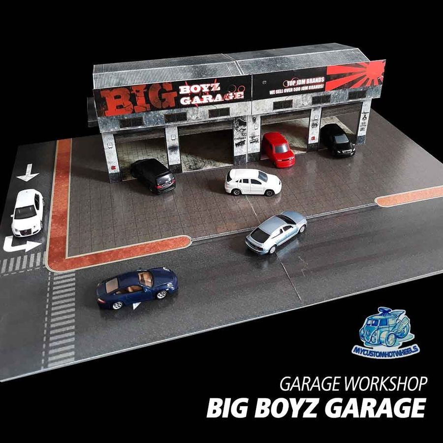 1 64 Diorama Building Kits Garages Workshops For Hot Wheels 1 64 Scale Cars Garage Workshop Hot Wheels Car Model