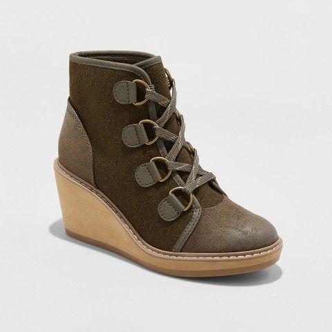 e9693c67d9c Merona Women s Lorelle Wedge Hiker Boots  fallstyle  fallfashion  fall   affiliate