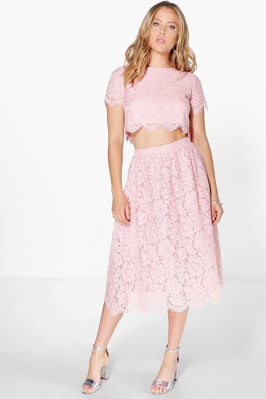 d23f4e6f90b2 Boutique Aria Lace Midi Skirt Co-Ord Set | Diys | Skirt co ord ...
