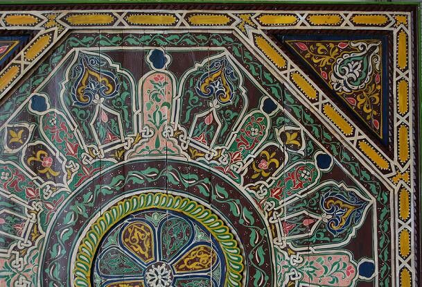 Tangier brown ceiling detail