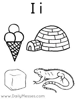 I Is For Igloo Ice And Iguana Prek Crafts Letter I Activities