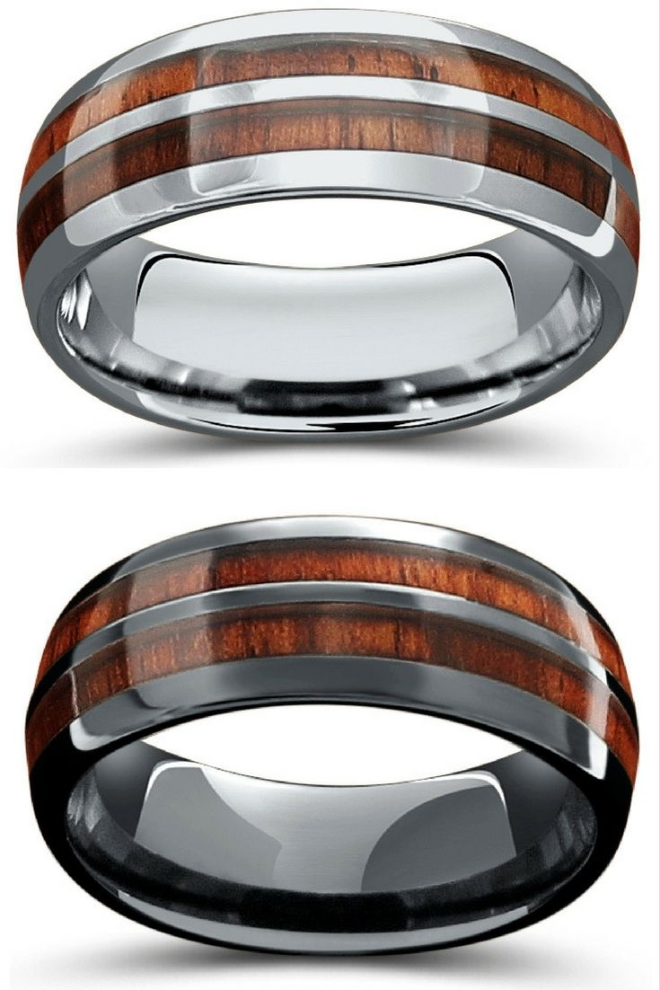 Mens wood wedding bands Crafted with 100 real wood These wood