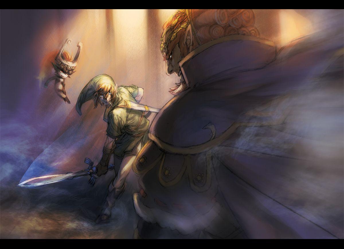 Link And Midna Vs Ganondorf Legend Of Zelda Zelda