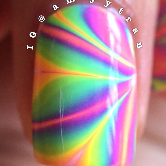 Pure Color 7 Watermarble Tool Nails For Kids Pure