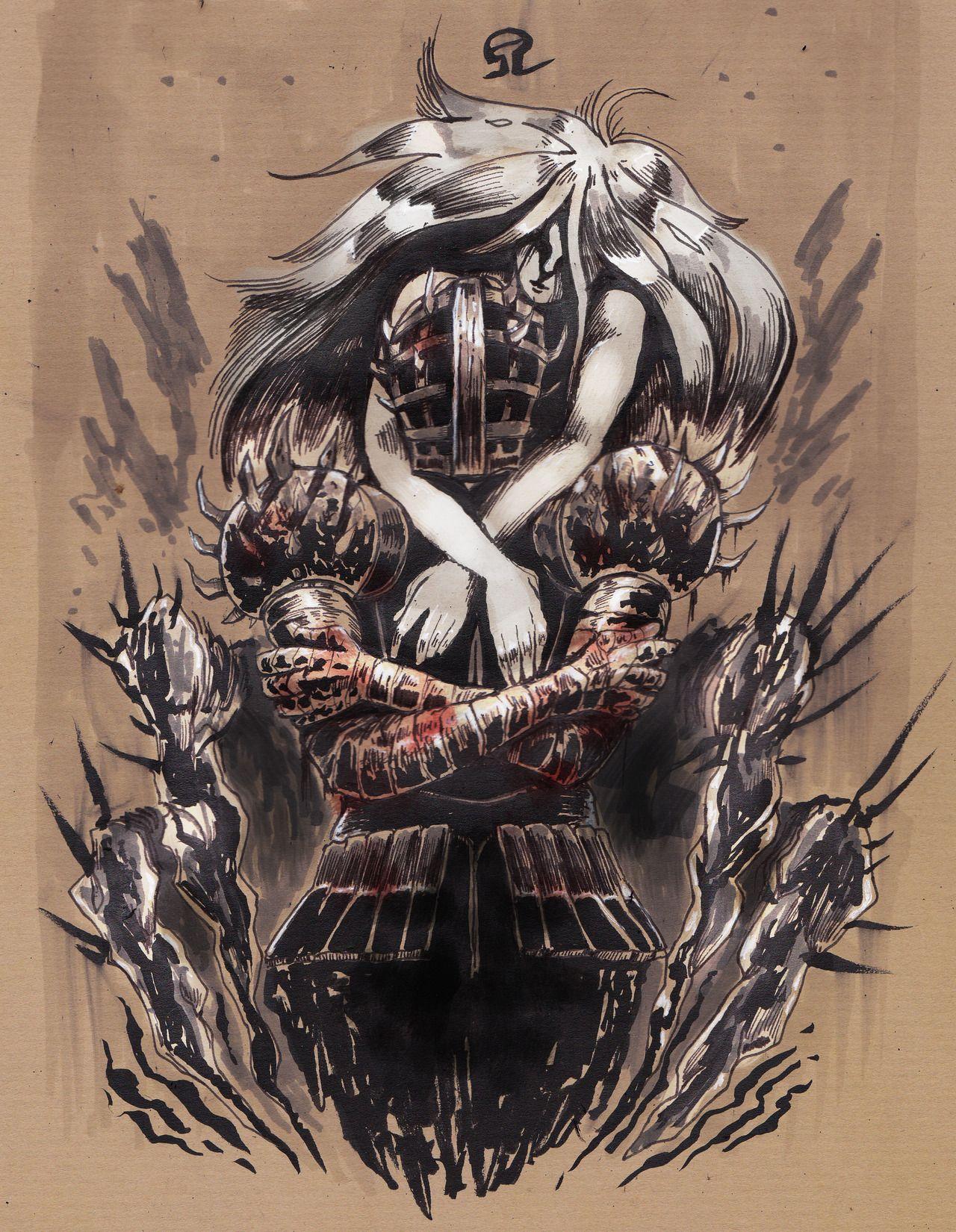 The One Who Craves Souls Alvh Omega Kirk And The Fair Lady Dark Souls Characters Dark Souls Dark Souls Art