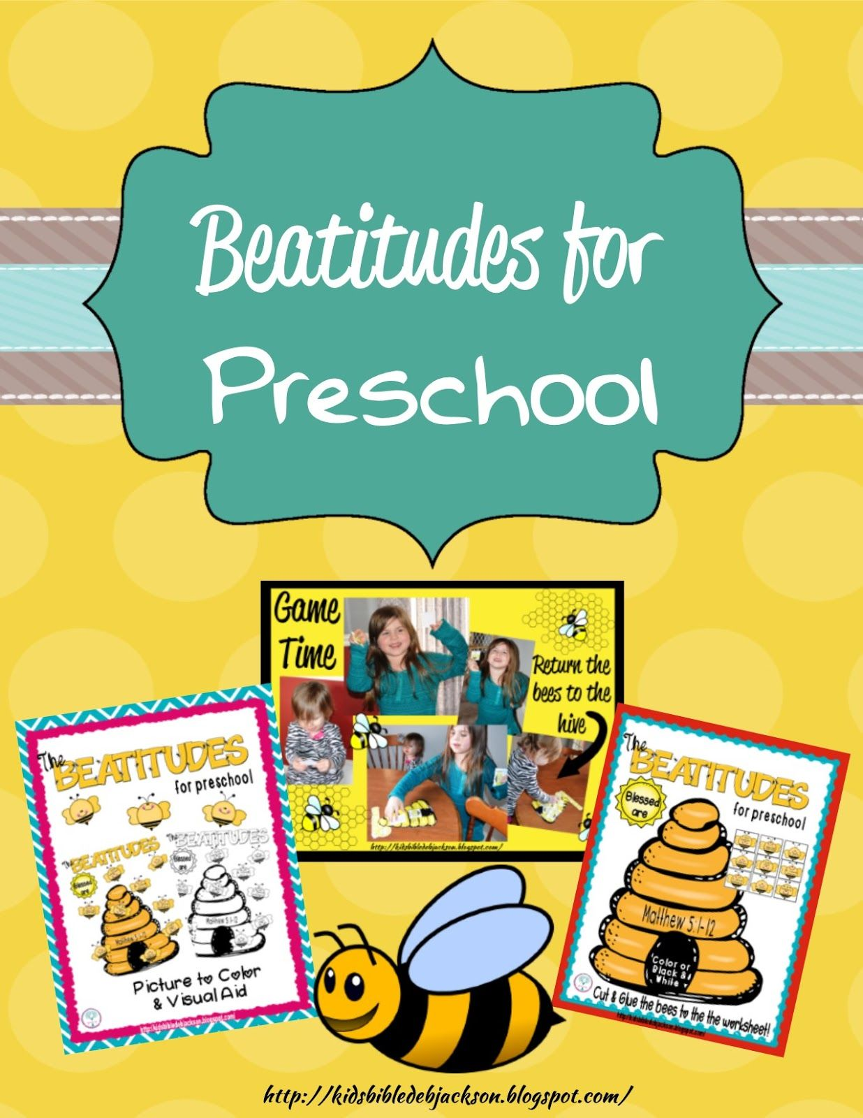 The Beatitudes: Preschool Printables | CR & PreK Sunday School