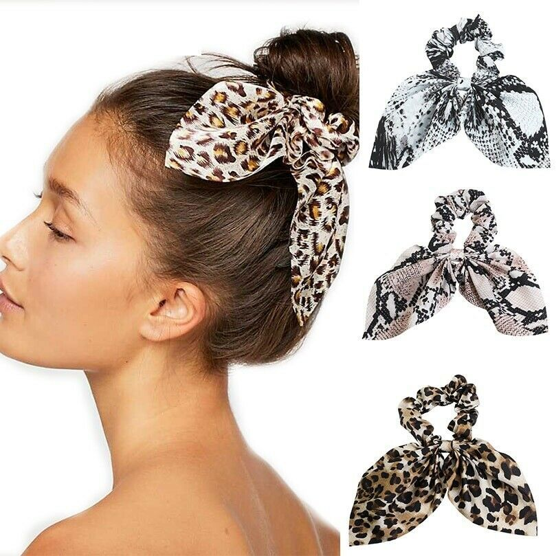 Women Holder Hairbands Leopard Hair Scrunchies Hair Rope Hair Ring Rubber Band