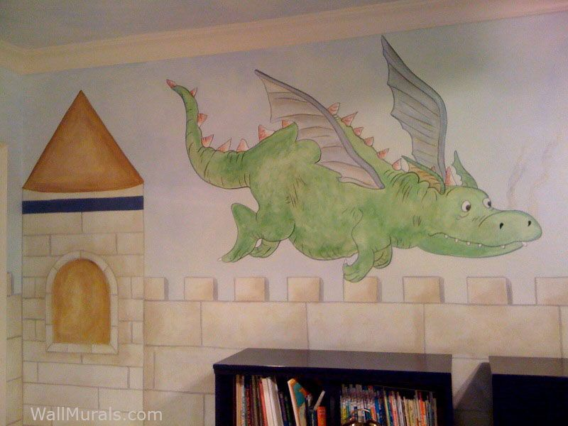 dragon murals walls Wall Murals by Colette Castle Murals