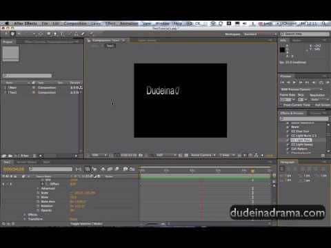 Adobe after effects cs4 basic tutorial youtube.