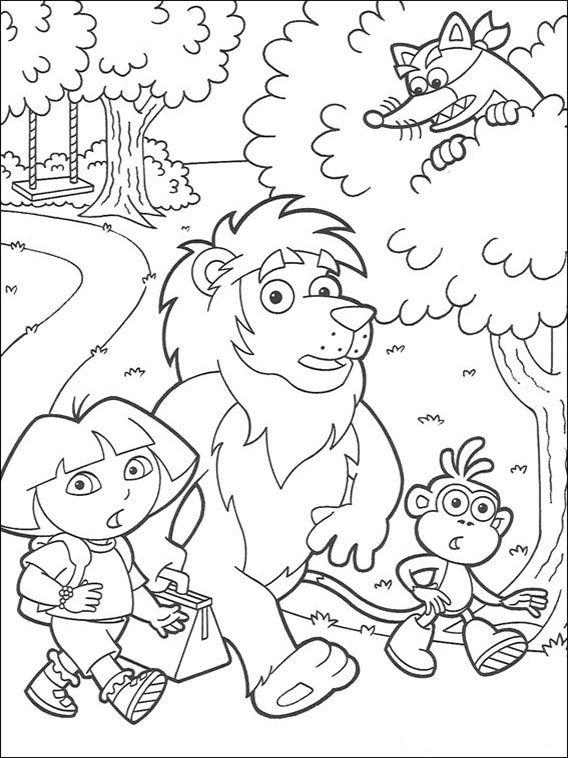 Dora the Explorer Coloring Pages 118   Mandalas   Pinterest ...