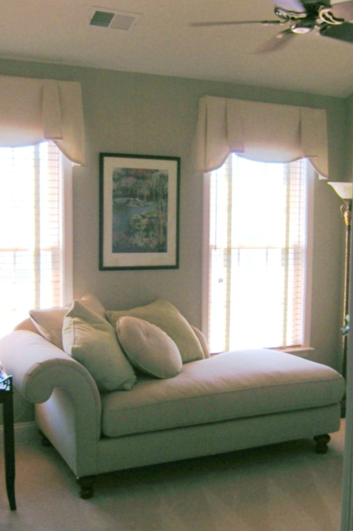 Comfortable Home Office Guest Room Custom Upholstered