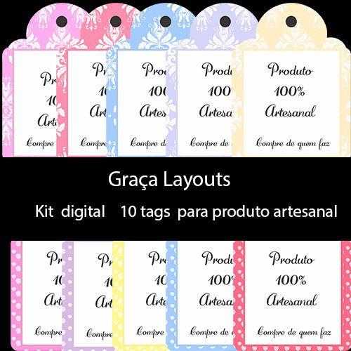 Artesanato Pernambuco ~ Kit digital Tags para produto artesanal Tags Pinterest