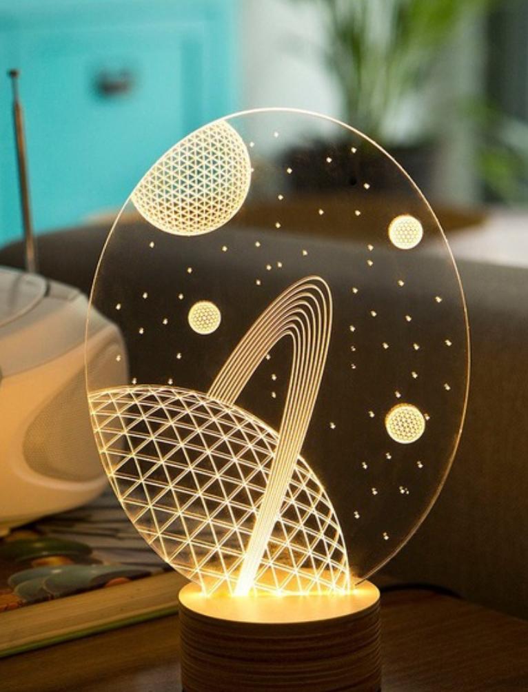 Galaxy Table Lamp By Studio Cheha Led Lamp Design Led Table Lamp Table Lamp
