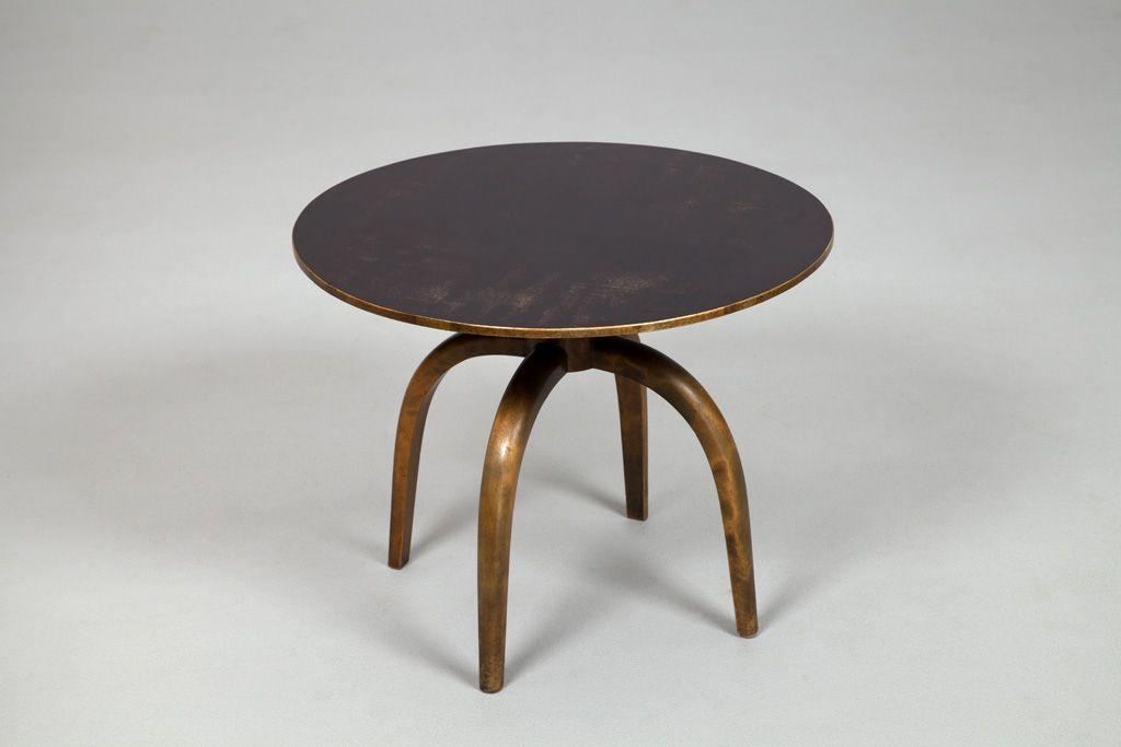 "Axel Einar Hjorth Table  Hjorth Axel Einar Producer:NK Nordiska Kompaniet Year:'37s Size:h.55cm/21,7"" dia.70cm/27,6"" Object no:9133 Birch, laminate top. Designed in 1937."