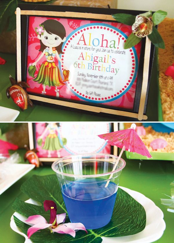 Tropical Oasis Hawaiian Luau Birthday Party | Hawaiian luau ...