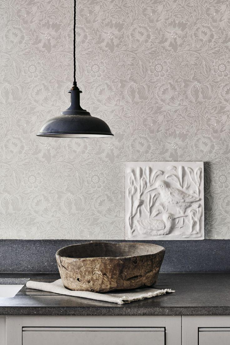 Pure poppy wallpaper kitchen makeover pinterest
