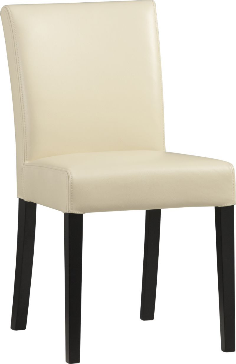 Lowe Ivory Leather Side Chair in Dining Chairs | Crate and Barrel ...