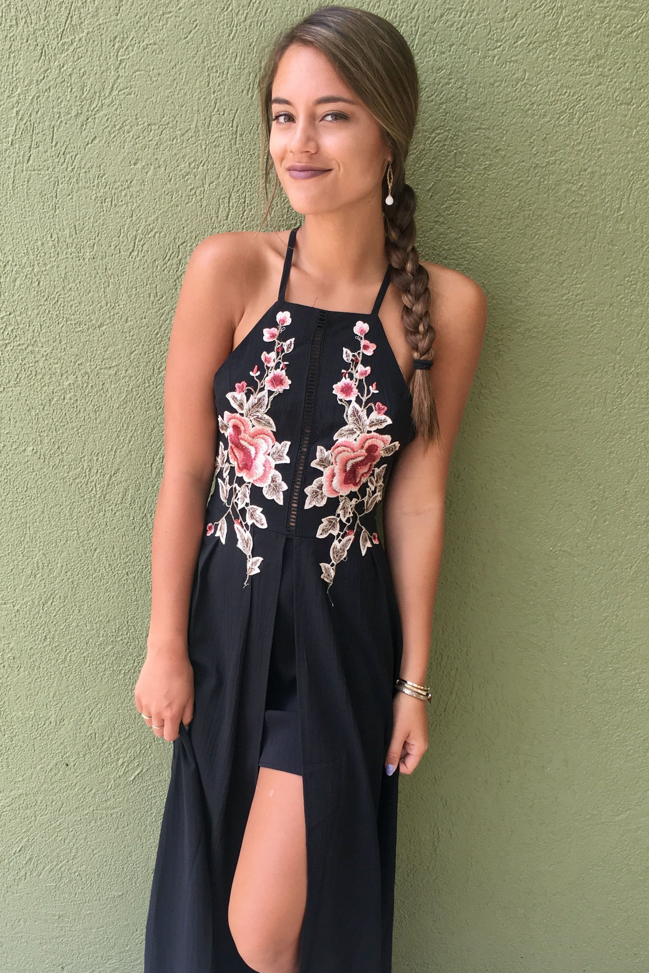 f16c62cbac2 Roses Are Red Romper - Black from Chocolate Shoe Boutique