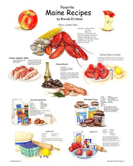 Favorite Maine Recipes Poster
