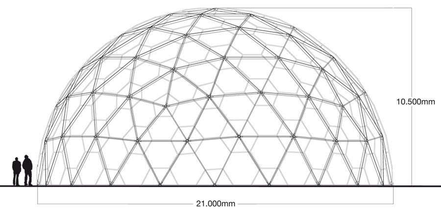 A 4V dome looks much better than a 3V but is much more complex and expensive