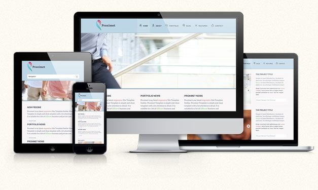 Proximet Free Responsive Site Template Business Card