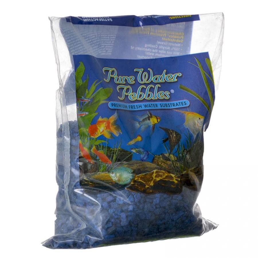 Freshwater aquarium fish vitamins - 2lb Pure Water Pebbles Aquarium Gravel Marine Blue Is A Natural Freshwater Aquarium Gravel Substrate