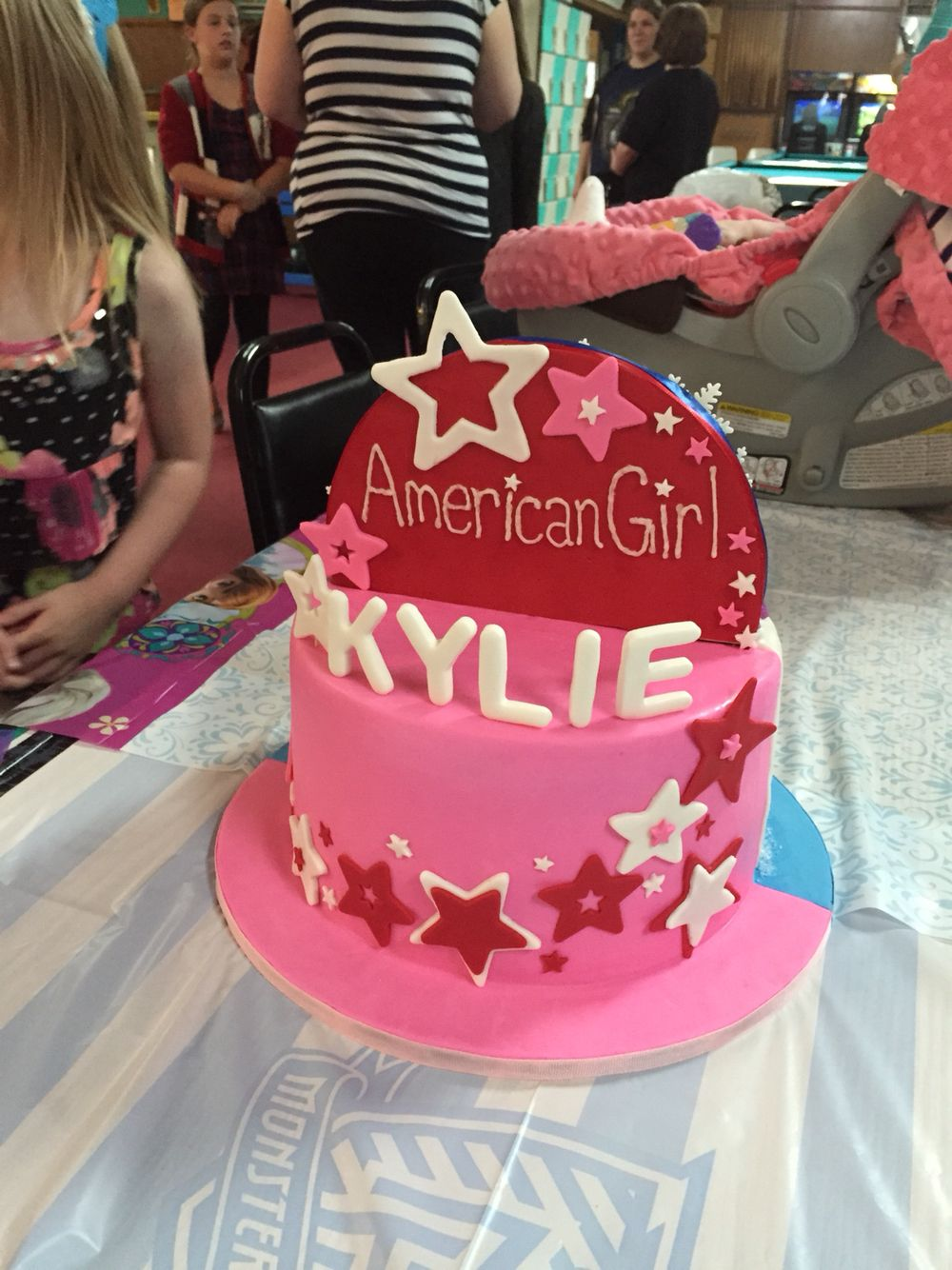 Tremendous American Girl Cake American Girl Birthday American Girl Cakes Birthday Cards Printable Opercafe Filternl