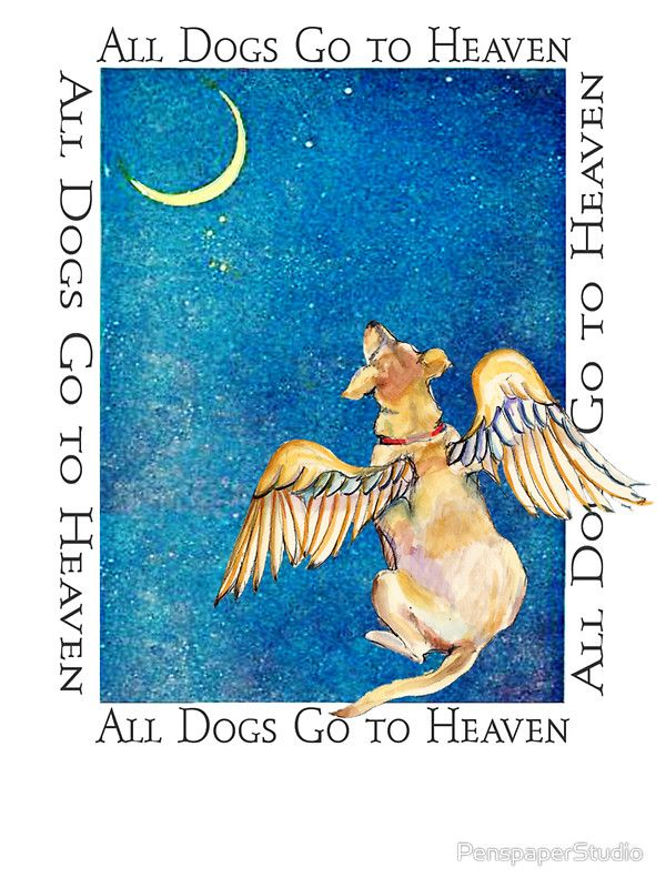 """They sure do! """"All Dogs Go to Heaven"""" Greeting Cards"""