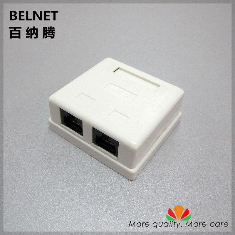 RJ45 junction box CAT5e network connector 2 port Desktop box 2-port ...