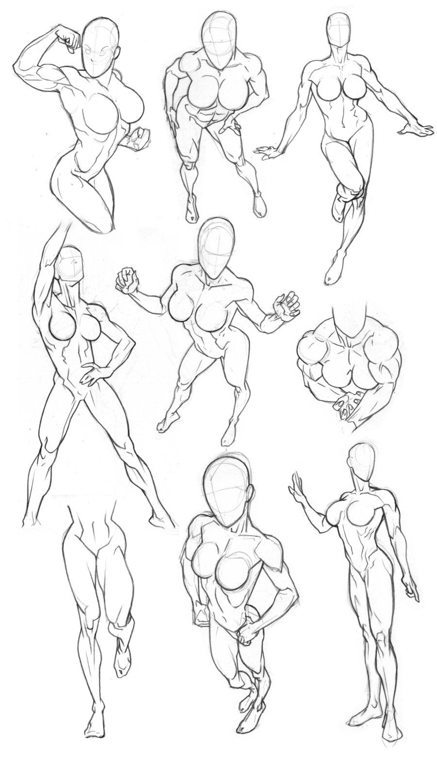 Sketchbook Figure Studies 2 by Bambs79.deviantart.com on @deviantART ...